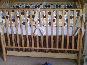 Minkly Baby Crib, Bumper Pads, Baby Rooms by Nana, Mary Seibolt